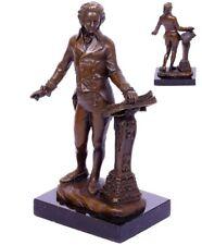 Bronzefigur Skulptur Ludwig van Beethoven auf Marmorplatte Signatur Milo 2,2 Kg
