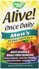 Nature's Way Alive! Once Daily, Men's Ultra Potency Multi-Vitamin & Whole Food Energizer