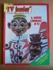 TV JUNIOR n°7  1983 Nils Holgersson Doraemon + inserto ed. ERI RAI  [G419A]
