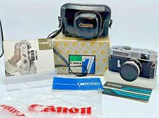 CANON MODEL 7 35MM CAMERA IN BOX WITH LENS AND LEATHER CASE EXCELLENT CONDITION