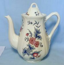 WEDGWOOD LARGE COFFEE POT IN WILLIAMSBURG POTPOURRI DESIGN NK510