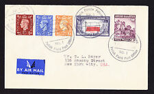FPO cover 1946 Polish Field Post Office GB USA Poland stamps Polska Brief to USA