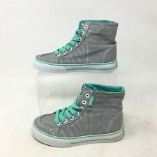 NEW Vans Sk8-Hi Decon Dots Casual Sneakers Lace Up Canvas Grey Missy Girls 11.5
