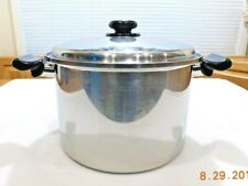SALADMASTER 12 QT STOCK POT T304S SURGICAL STAINLESS STEEL & LID USA