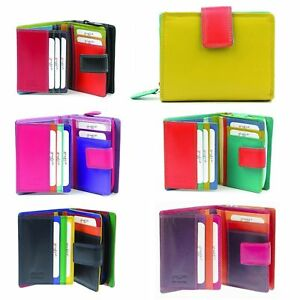 RFID Protected 7-142 Leather Multi Coloured Purse,Wallet By Golunski