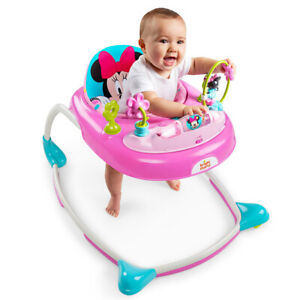 Bright Starts Disney Minnie Mouse Walker w/Play Toy/Sound/Light for Baby/Toddler