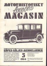 Motorhistoriskt Magasin Annons Swedish Car Magazine 5 1984 Saab 032717nonDBE