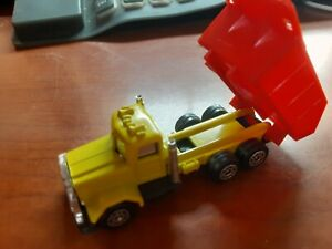 Vintage Corgi Red and Yellow Dump Truck Made In Great Britain VGC