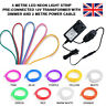 1-10M LED NEON FLEX STRIP ROPE WARM WHITE CONNECTED 12V TRANSFORMER WITH DIMMER