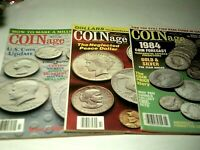 Vintage COINage Magazines 1984 EXCELLENT Condition January Feb. March