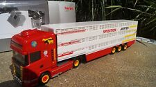 "Herpa  Scania R09 Topline Viehtransporter ""Hefter""   scale 1:87 923392"