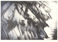 "Eyvind Earle ""Cliffs of Darkness"" 1986 screenprint Hand Signed Numbered"