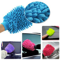 Dusting Microfiber Premium no Scratch Car Wash Cleaning Mitt Glove Random Color
