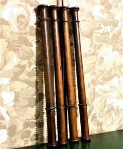 4 Decorative groove wood turned column Antique french architectural salvage