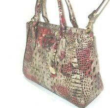 Brahmin Small Irene Charm Multi-Color Melbourne Embossed Satchel Bag NWT $315