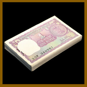 INDIA 1 Rupee Banknote World Paper Money UNC Currency Pick p108 2015 Letter L