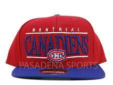 "MONTREAL CANADIENS SNAPBACK CAP ""AMERICAN NEEDLE"" NWT nhl suban"