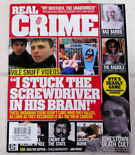 REAL CRIME Issue No8 UKRANIAN TEENS Jim Jones CULT 900 DEAD IN JUNGLE Temple BTK