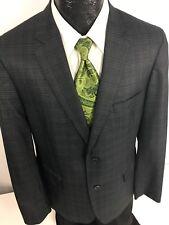 NEW American Rag Black CHECK Grid Sport Coat KISSING BTN Jacket MODERN Blazer L