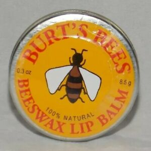 Burt's Bees BEESWAX Lip Balm 100% Natural .3 oz New Sealed