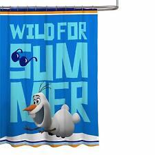 "Disney Frozen Shower Curtain Olaf Wild For Summer New 70"" x 72"""