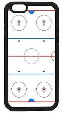 Ice Hockey Rink Case Cover for iPhone 4 4s 5 5s 5c 6 6 Plus Black Hard or Rubber