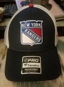 NEW YORK RANGERS NHL AUTHENTIC PRO Fanatics Adjustable Hat New