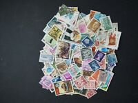 Worldwide stamp collection/accumulation , 420 all different off paper stamps