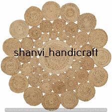 Home Decor Handmade Indian Braided Jute Rug Bohemian Area Rug Carpet 3 Feet Rugs