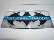 Batman, The Dark Night, Blue Strip Mirror Laser License Plate Black/Pink  NEW!!