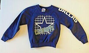 Vintage 1980's Children's Large (7) Blue Long Sleeve Dallas Cowboys Sweatshirt