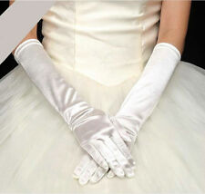 Paire de gants longs satin mariage : LONG 40 cm - coloris IVOIRE