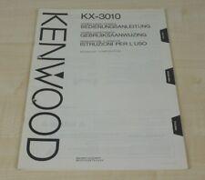 Kenwood kx-3010 original mode d'emploi (multilingue, également en Allemand) (2)