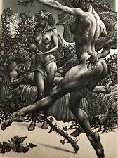 "Original Nude Etching ''Bacchus""by Julian Jordanov E/A"
