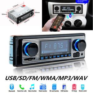 Car Classic FM retro radio Player Bluetooth Stereo MP3 USB AUX Audio+ Remote