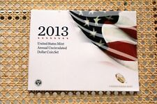 2013 UNITED STATES MINT ANNUAL UNCIRCULATED DOLLAR COIN SET w/SILVER EAGLE hr
