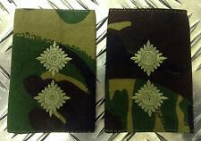 Genuine British Army Woodland Camouflage LIEUTENANT Rank Slides/Epaulettes - NEW