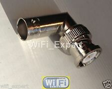 1 x BNC Male to BNC Female jack RIGHT Angle L in Series Adapter Connector 2 Way