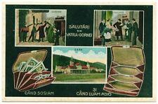 Romania Bukowina 1920s Vatra Dornei Station,money arrival/departure,funny pc RR!