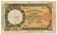 ITALY banknote 50 Lire 30.4.1936.
