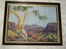"A Vintage Hermannsburg School Oscar Namatjira Landscape Print 15.5"" x 11.5"""