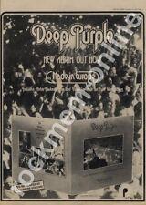 Deep Purple Made In Europe TPSA 7517 LP advert 1976