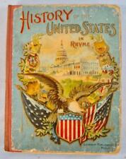 History Of The United States In Rhyme Antique Book 1884 Robert C Adams (O) AS IS