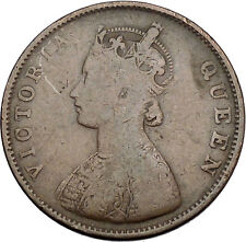 1862 Queen VICTORIA British India Half Anna Colonial United Kingdom Coin i45295