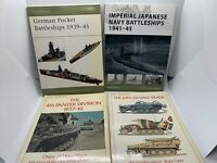 4 Osprey New Vanguard SC Books: Imperial Japanese Navy, German Battleships MORE