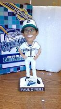 MLB BRIDGEPORT BLUEFISH OFFICIAL BOBBLEHEAD PAUL O'NEILL 2016 SEALED IN BOX