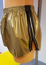 NEW LINE - PVC FOOTBALL Shorts Small to XXXXL 70s & 80s Retro, Gold & Black