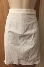 T BY Alexander Wang White Leather Mini Skirt UK 6 £605