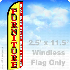 Furniture Recliners Sofa Beds - Windless Swooper Feather Flag Sign 2.5x11.5' yz