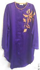 Victoria's Secret Vintage Camisa De Satén Camisón/Púrpura Lencería Talla Única
